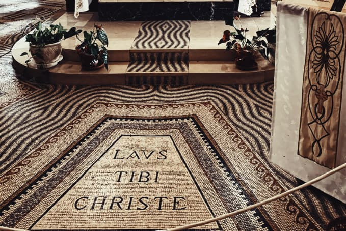 Laus Tibi Christe: the beauty and purity of the Latin Language is apparent.