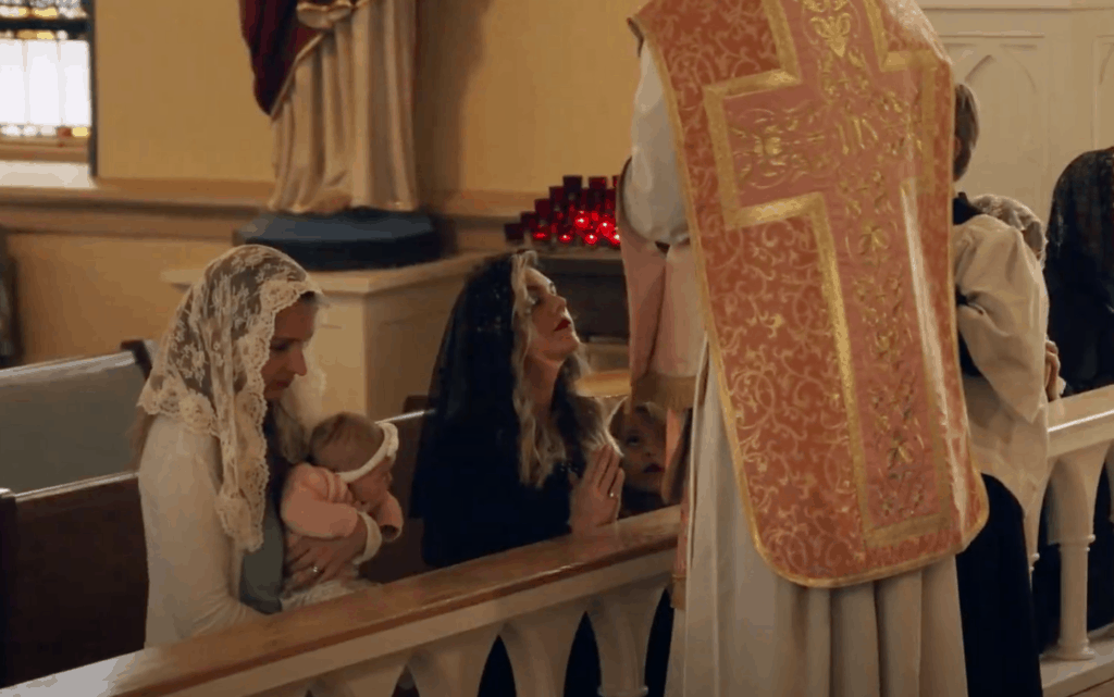 Kristine Mauss,  and Family screenshot from the Mass of the Ages documentary released August 15th 2021.